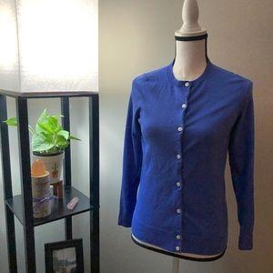 L.L. Bean Blue Cardigan Sweater - Small
